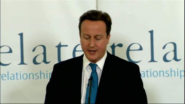 david cameron speech 'on families and relationships'; cameron speech sot - so, to start off with, we will be making funding available for innovative... - human back stock videos & royalty-free footage