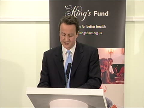 david cameron speech on health; - new treatments becoming available all the time - nhs can no longer ration treatments/ must ensure nhs harnesses... - time of day stock videos & royalty-free footage