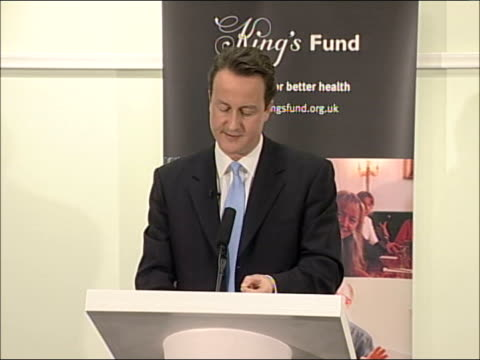 david cameron speech on health overdose of ideology and a lack of understanding from politicians in the past/ left have spent too much time trying to... - overweight patient stock videos & royalty-free footage