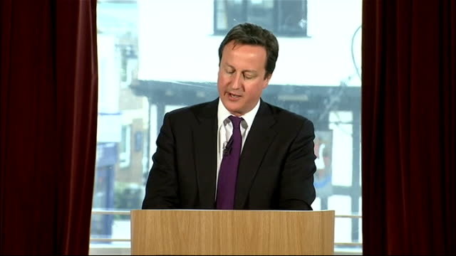 David Cameron speech on immigration David Cameron speech continued SOT But the third argument put forward by those who say we can't control...