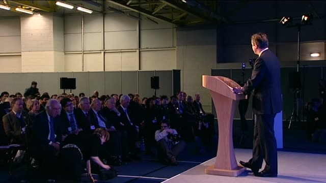 david cameron speech on libya to conservative party's scottish conference; cameron speech sot - democracies are more likely to adhere to the... - us state border stock videos & royalty-free footage