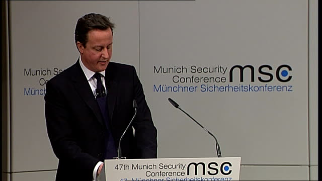 david cameron speech on multiculturalism / edl march in luton; germany: munich: int more of cameron speech sot - we need to think much harder about... - multiculturalism stock videos & royalty-free footage