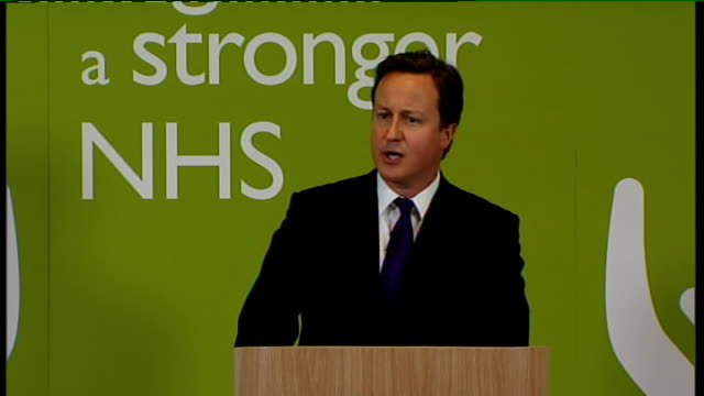 david cameron speech on nhs reforms; cameron speech sot - but this is the point: it's because i love the nhs so much that i want to change it...... - diabetes prevention stock videos & royalty-free footage