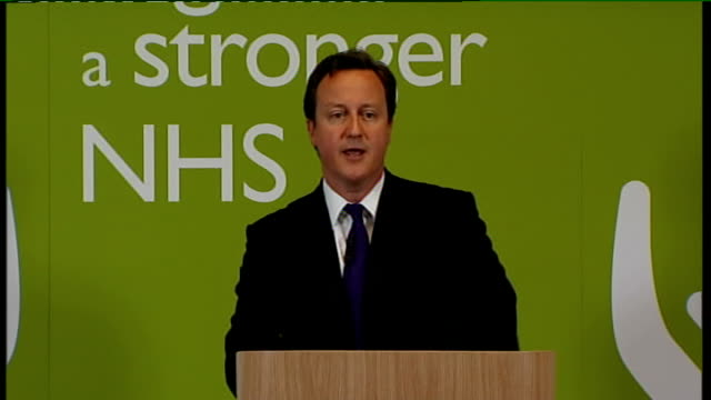 david cameron speech on nhs reforms; cameron speech sot - it will be evolutionary, not revolutionary. our changes are a logical extension of... - social history stock videos & royalty-free footage