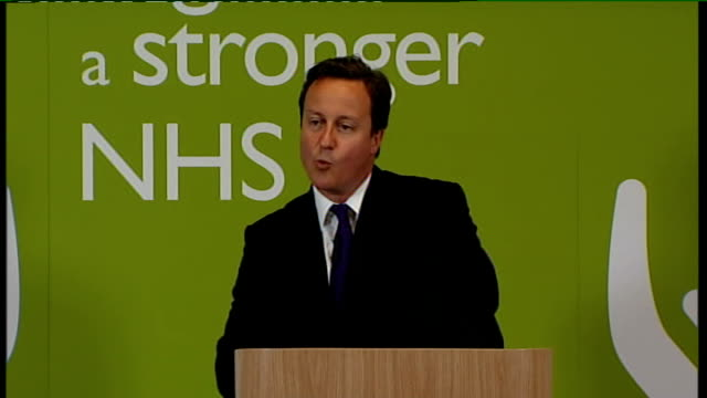 david cameron speech on nhs reforms; cameron speech sot - this is what top-down control is doing to our nhs - and i believe it should change. then... - co ordination stock videos & royalty-free footage