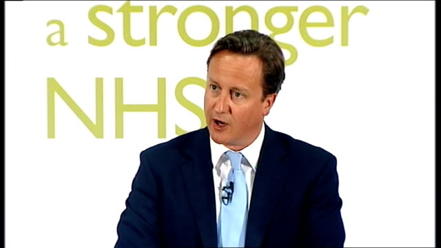vídeos y material grabado en eventos de stock de david cameron speech on nhs reforms cameron speech sot we recognise that many people have had concerns about what we were doing / that's why for the... - semana