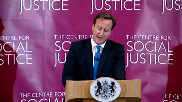 david cameron speech on punishment and rehabilitation of offenders london the centre for social justice int david cameron mp speech sot i'm not going... - recovery stock videos & royalty-free footage