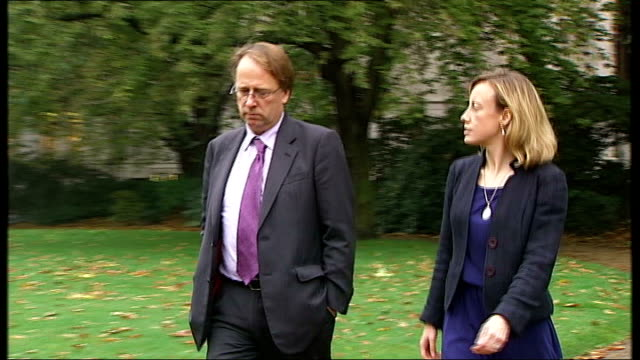 david cameron speech on punishment and rehabilitation of offenders westminster ext setup shot of reporter walking with vicki helyarcardwell vicki... - recovery stock videos & royalty-free footage
