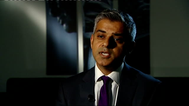 david cameron speech on punishment and rehabilitation of offenders london int sadiq khan mp interview sot we did a pilot to see how to improve it... - sadiq khan stock videos & royalty-free footage