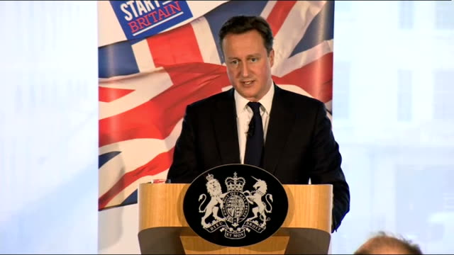 david cameron speech on responsible capitalism david cameron speech sot there is a forfeiture committee in terms of honours that exists and that will... - メリルボーン点の映像素材/bロール