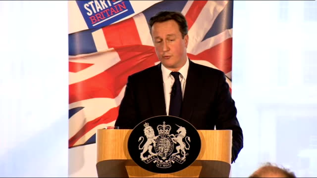 david cameron speech on responsible capitalism england london int david cameron mp speech sot it's right there is a proper process obviously it will... - ロイヤル・バンク・オブ・スコットランド点の映像素材/bロール