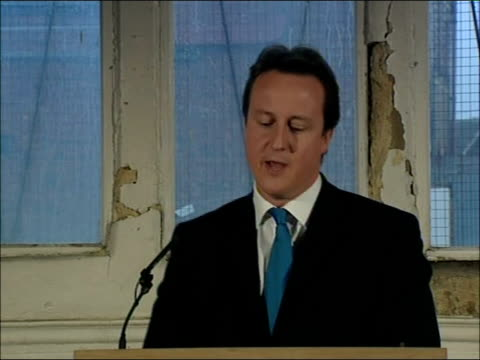 David Cameron speech on social cohesion David Cameron MP speech continues SOT So as we think about how to bring our country together let's not...