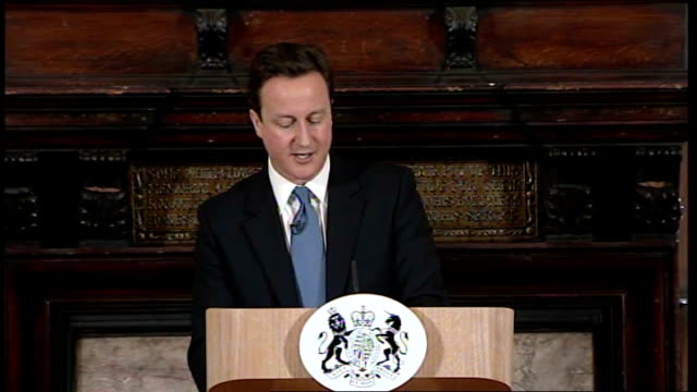 vídeos de stock, filmes e b-roll de david cameron speech on welfare reform bill cameron speech sot but what is also fair is to give those with disabilities who can work the opportunity... - model t
