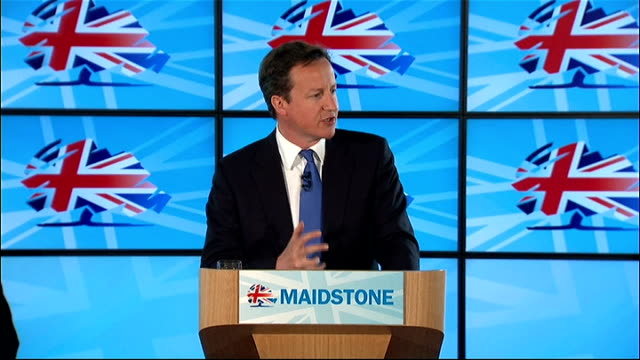 david cameron speech to conservative party members in kent england kent maidstone int david cameron mp speech sot thanks / helen has answered one of... - speech bubble stock videos & royalty-free footage