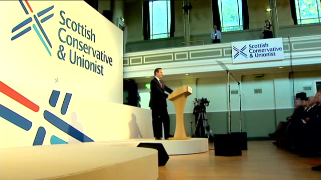 david cameron speech to scottish conservative party conference: cutaways; scotland: stirling: scottish conservative and unionist party conference int... - stirling stock videos & royalty-free footage