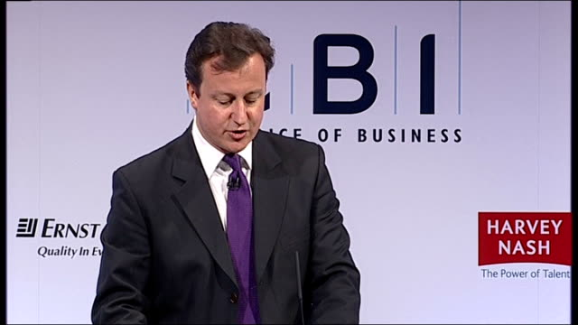 david cameron speech to the cbi cameron speech sot we're also selling council houses house again and using the money to build more houses and... - francis crick stock videos & royalty-free footage