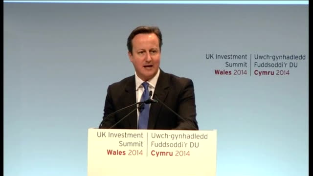 david cameron speech to uk investment summit wales 2014 wales cardiff celtic manor david cameron mp speech sot i think it is a sign of how business... - golf links stock videos & royalty-free footage