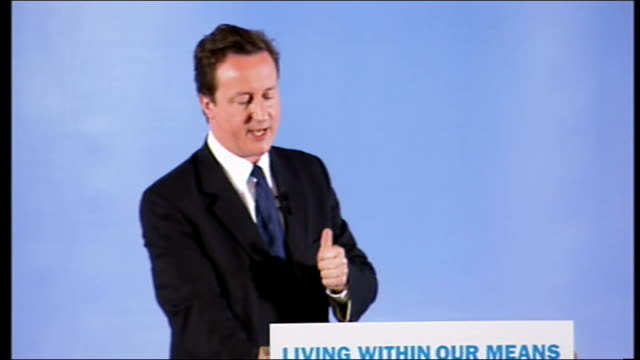 david cameron speech unsurprisingly labour blocked it but i can promise you that this will be one of the first innovations of a conservative... - backwater stock videos & royalty-free footage