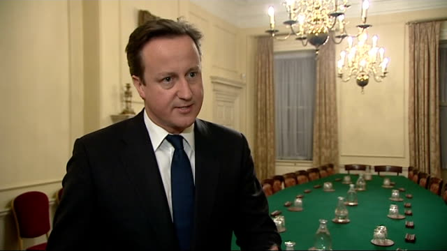 david cameron to block new eu treaty unless british demands are met cameron interview england london int david cameron mp interview sot when i go to... - things that go together stock videos & royalty-free footage