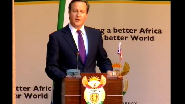david cameron visit press conference with jacob zuma david cameron mp press conference sot thank you president zuma for your very kind welcome this... - horn of africa stock videos & royalty-free footage