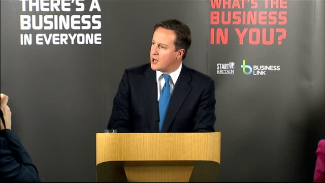 david cameron visit to yorkshire to launch initiative to encourage people to start up in business; england: yorkshire: int david cameron along to... - high speed photography stock videos & royalty-free footage