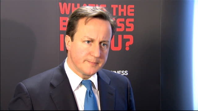 David Cameron visit to Yorkshire to launch initiative to encourage people to start up in business David Cameron answering questions from press SOT...