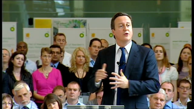 stockvideo's en b-roll-footage met david cameron visits bp's north sea headquarters and gives speech david cameron speech sot as oil supplies gas supplies the world over get more... - bp