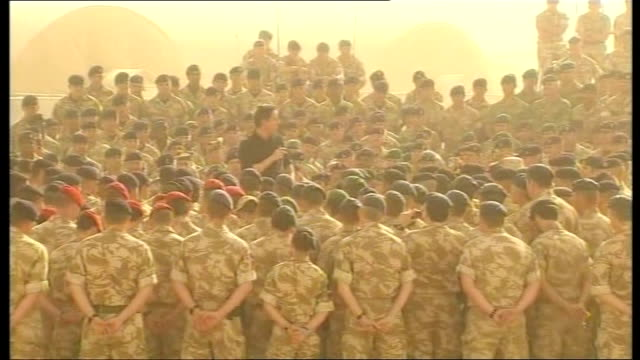 david cameron visits british troops david cameron along through gathered troops to make speech david cameron speech to british troops sot it is going... - general election stock videos & royalty-free footage