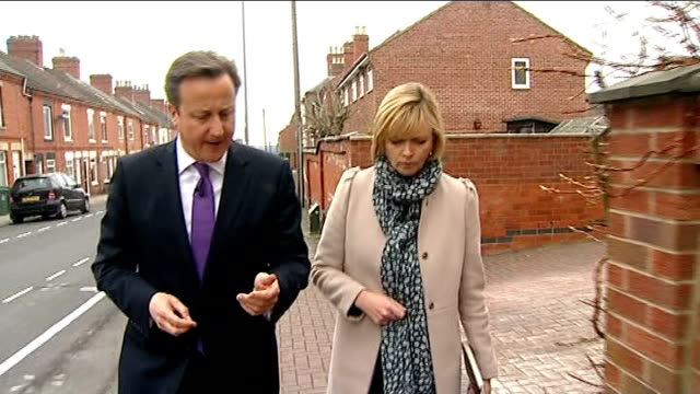 interview EXT David Cameron interview as along suburban street with reporter SOT yes in this parliament we will make sure that legislation is there...