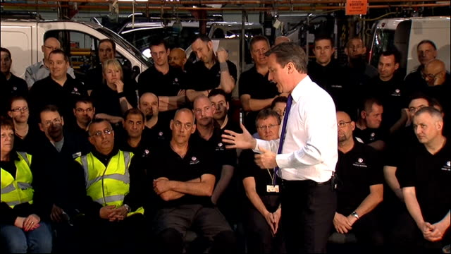 David Cameron visits General Motors factory David Cameron Q A session SOT re oil prices **FOLLOWING Having big effect on what we're paying for petrol...