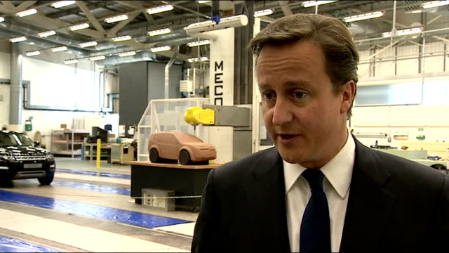 David Cameron visits Land Rover factory David Cameron MP interview SOT On whether he considers James Murdoch to be the right man to clean up...