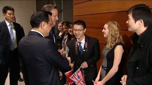 David Cameron visits National Museum of China CHINA Beijing INT David Cameron MP smiling along at National Museum of China / Li Keqiang shakes hands...