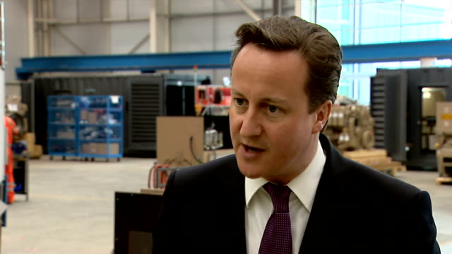 david cameron warned alcohol policy could be illegal; lib / tx scotland: dumbarton: int david cameron mp interview sot - i think this minimum unit... - lager stock videos & royalty-free footage