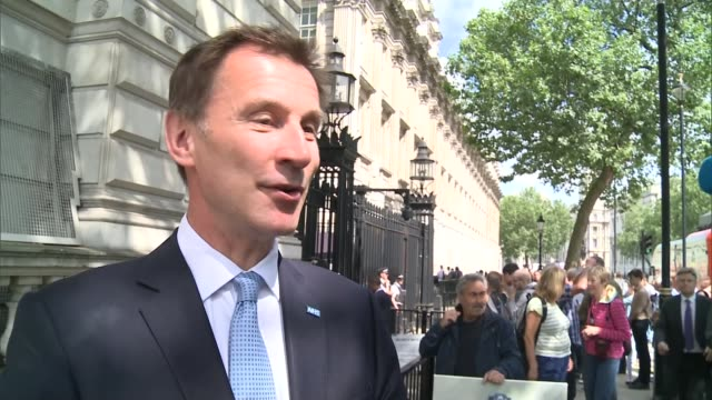 david cameron's final day in office jeremy hunt mp interview sot there was a feeling across the cabinet of great pride at what david cameron has... - last day stock videos and b-roll footage