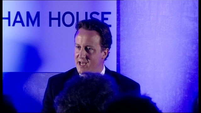 david cameron's popularity hit by poll int david cameron mp press conference sot on two occasions in local elections we got 40 percent of the vote a... - will.i.am stock videos and b-roll footage