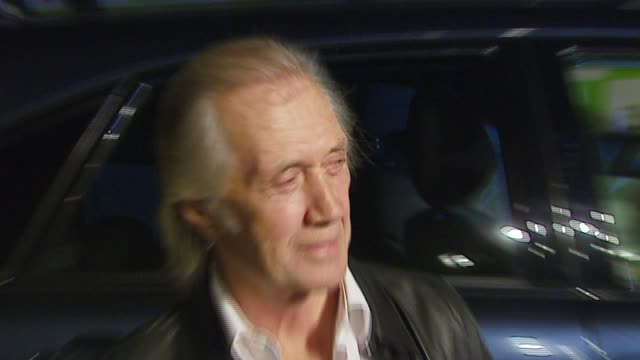 david carradine at the 16th annual environmental media awards at ebell theater in los angeles, california on november 8, 2006. - environmental media awards stock-videos und b-roll-filmmaterial