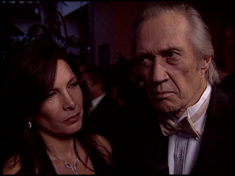 stockvideo's en b-roll-footage met david carradine at the 2005 night of 100 stars oscar party at the beverly hilton in beverly hills, california on february 27, 2005. - 77e jaarlijkse academy awards