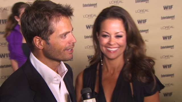 david charvet and brooke burke at the entertainment weekly and women in film pre-emmy party at west hollywood ca. - pre emmy party stock videos & royalty-free footage