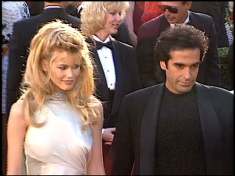 david copperfield at the 1996 academy awards arrivals at the shrine auditorium in los angeles, california on march 25, 1996. - 第68回アカデミー賞点の映像素材/bロール