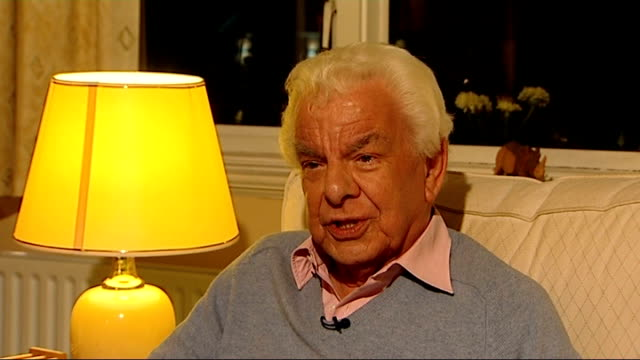 david croft dies aged 89; barry cryer interview sot - barry cryer stock videos & royalty-free footage