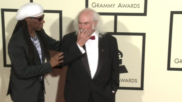 stockvideo's en b-roll-footage met david crosby at 58th annual grammy awards® arrivals at staples center on february 15 2016 in los angeles california - 58e grammy awards