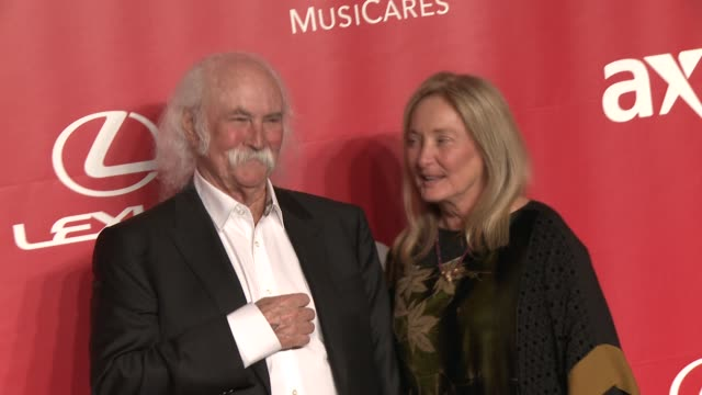 David Crosby avec gracieuse, femme Jan Dance