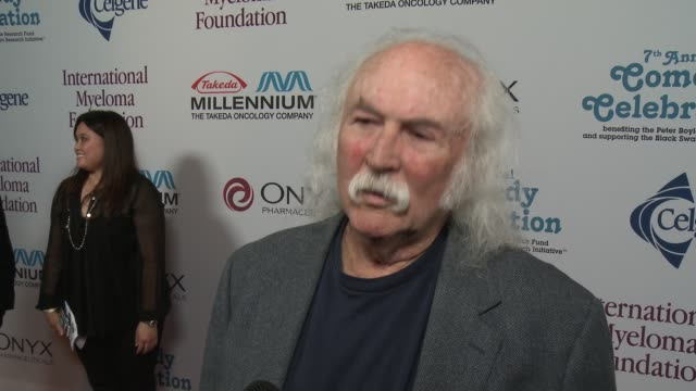 david crosby on peter doyle at international myeloma foundation 7th annual comedy celebration benefiting the peter boyle research fund & supporting... - peter boyle stock videos & royalty-free footage