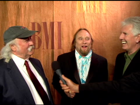 David Crosby Stephen Stills and Graham Nash on being honored as icons on songwriting at the 2006 BMI Pop Awards at the Regent Beverly Wilshire Hotel...