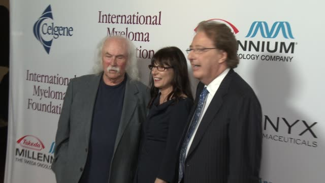 david crosby, susie novis, dr brian durie at international myeloma foundation 7th annual comedy celebration benefiting the peter boyle research fund... - peter boyle stock videos & royalty-free footage