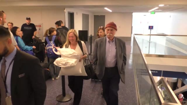 INTERVIEW David Crosby talks about Bob Dylan getting Nobel Prize while departing at LAX Airport in Los Angeles