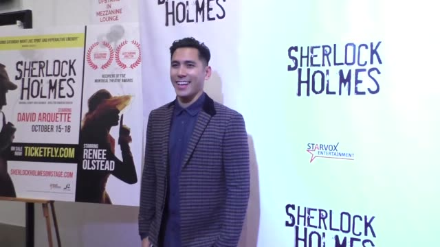 david cruz at the opening night of sir arthur conan doyle's sherlock holmes at the montalban theatre in hollywood - celebrity sightings on october... - arthur conan doyle stock videos & royalty-free footage