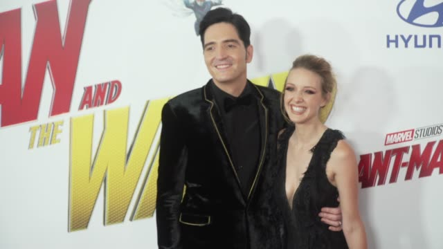 David Dastmalchian and Evelyn Leigh at the 'AntMan and the Wasp' World Premiere at the El Capitan Theatre on June 25 2018 in Hollywood California