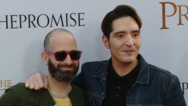 """david dastmalchian at the """"the promise"""" los angeles premiere at tcl chinese theatre on april 12, 2017 in hollywood, california. - tcl chinese theatre video stock e b–roll"""