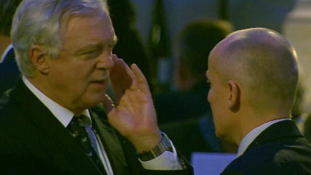 david davis attending an event in berlin germany - politiker stock-videos und b-roll-filmmaterial